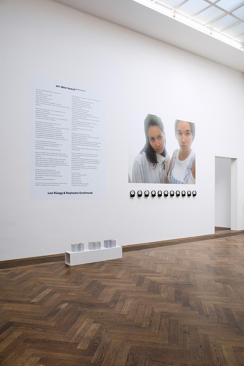 Lea Rüegg & Raphaela Grolimund «wir über kunst» | Institut Kunst, Diplom Bachelor 2016