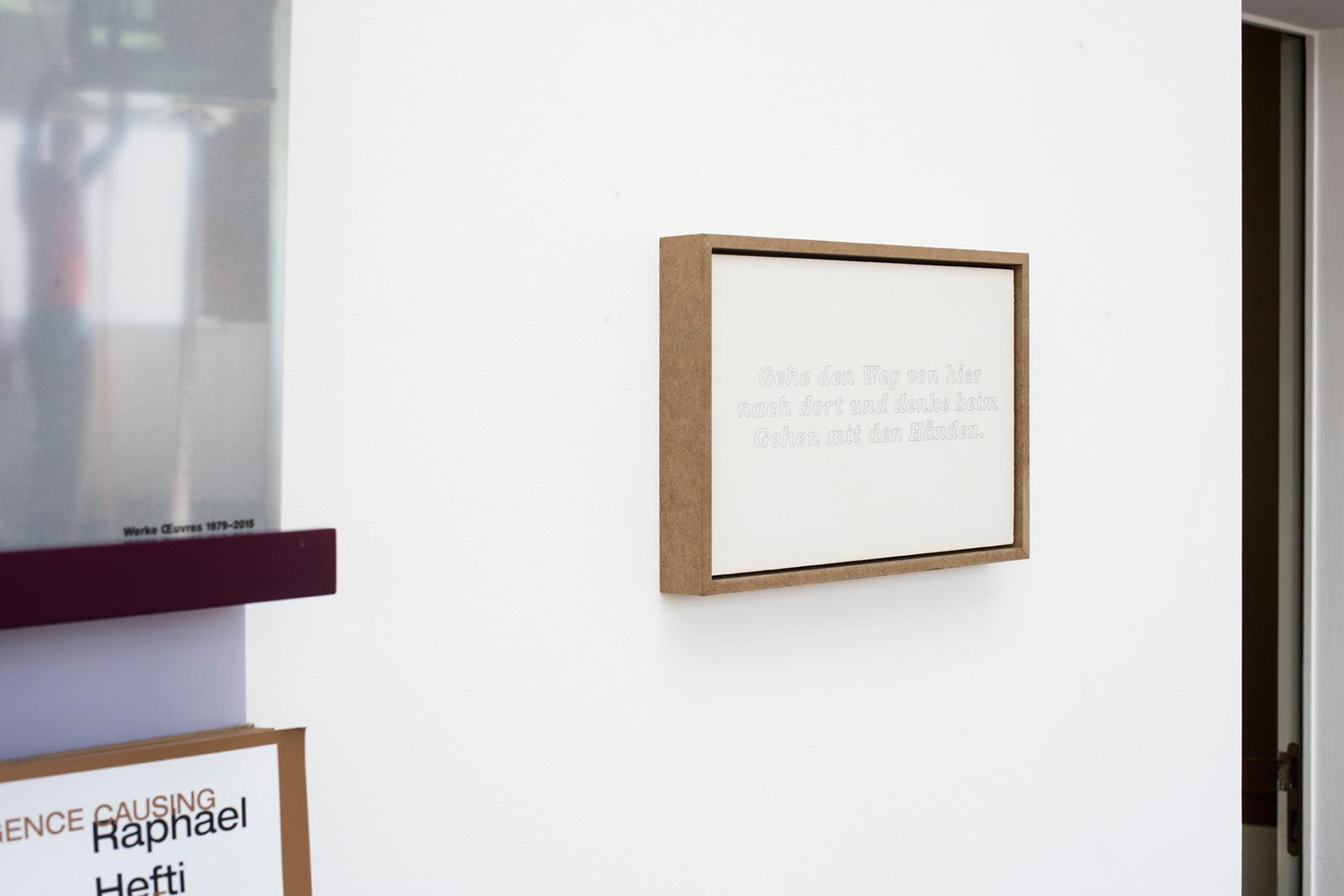 Daniela Petrini «touchwalks»  | Institut Kunst, Master 2016