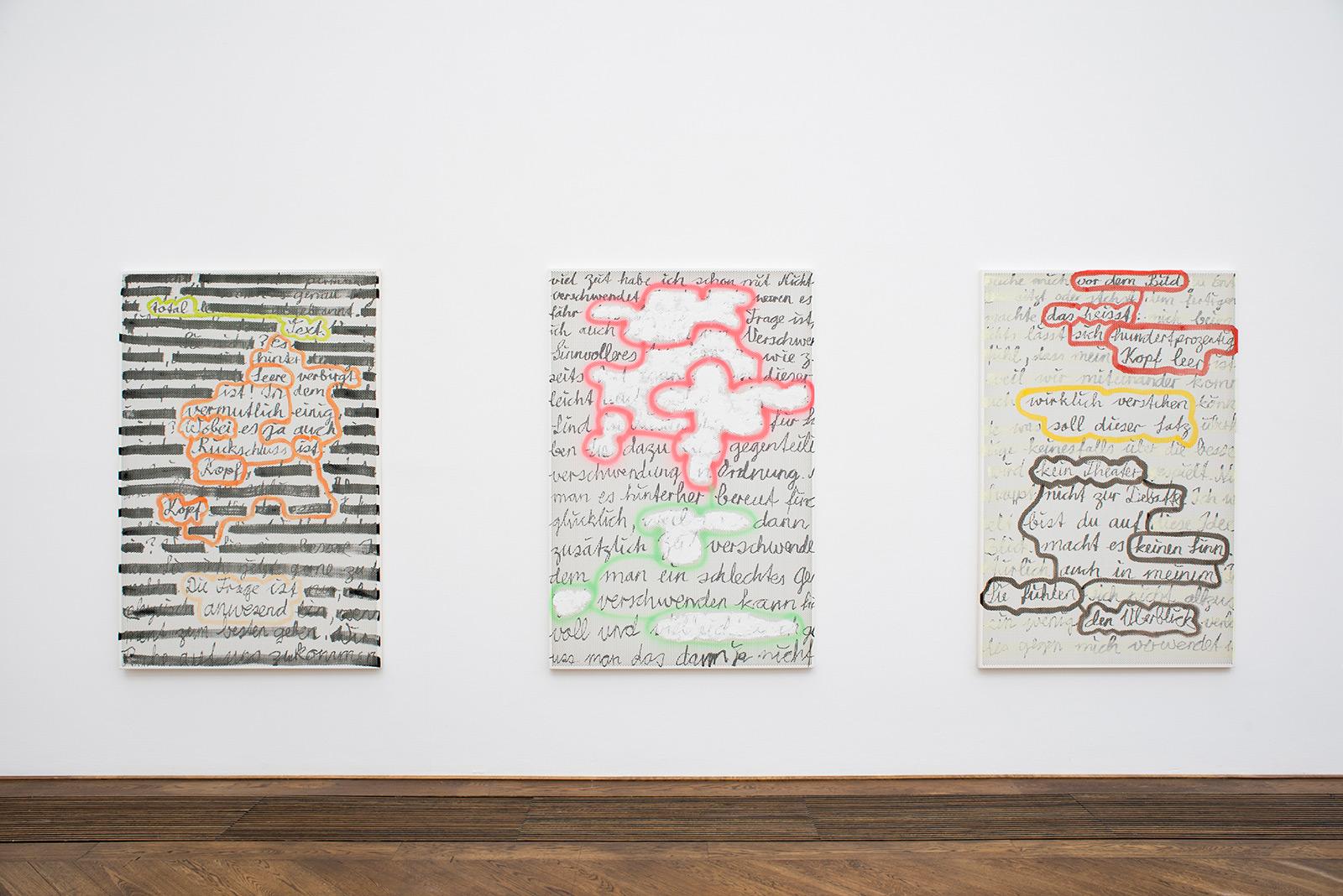 Fabio Luks «Schreiben» | Institut Kunst, Master 2016