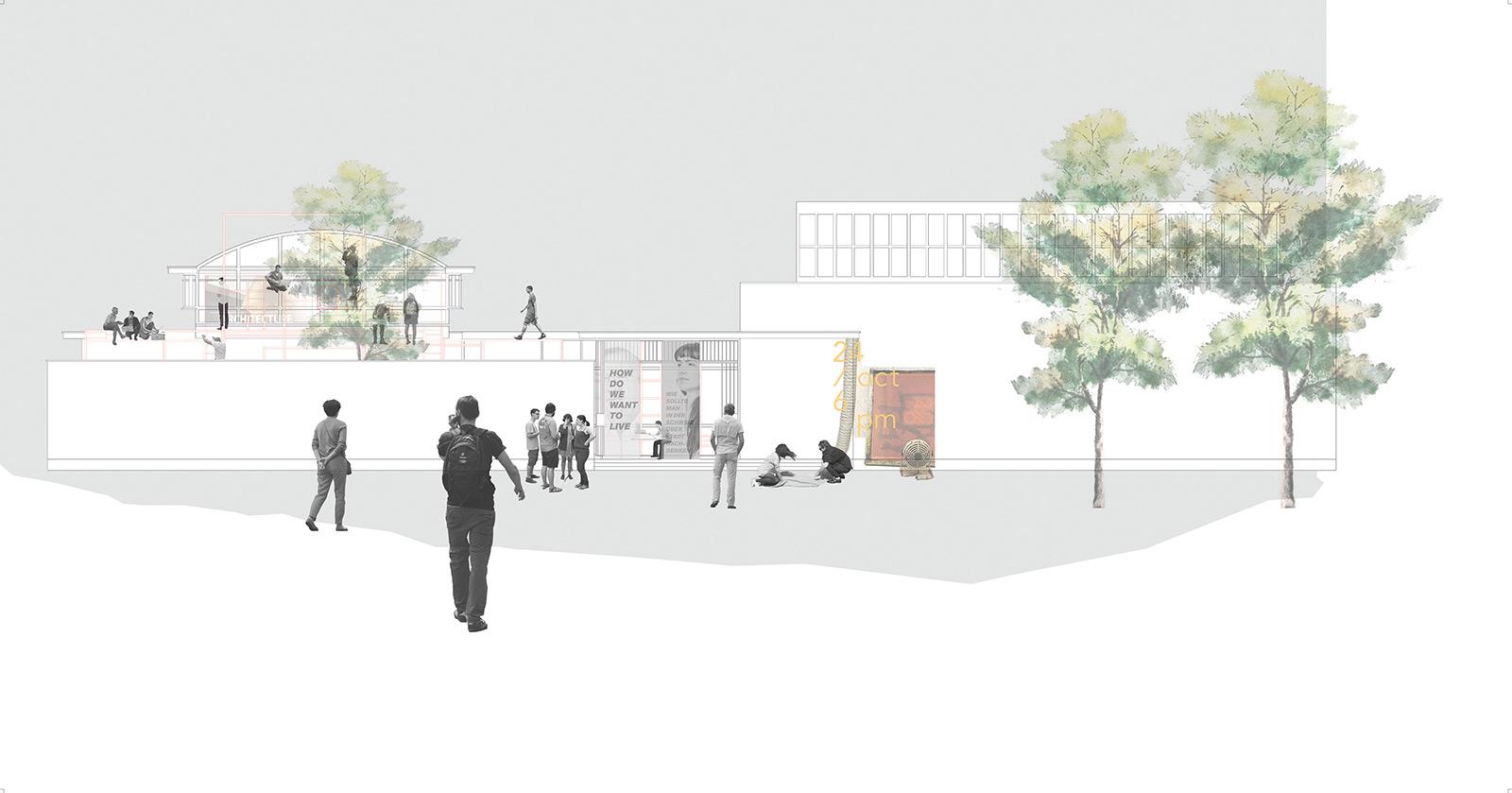 Fabienne Fischer «ADD-ON – Der Schweizer Pavillon als städtebauliches Übungsfeld»   Innenarchitektur und Szenografie, Diplom 2016