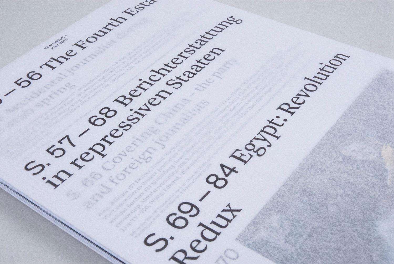 Max Frischknecht «SCAN ISSUE 1 – Die Zukunft des Journalismus» | Visuelle Kommunikation, Diplom Bachelor  2016