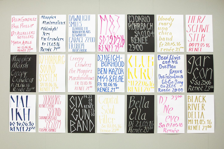 Simon Eliane «Schrift-Bild-Plakat : Schriftlabor küsst Plakat» | Visuelle Kommunikation, Diplom Bachelor  2016