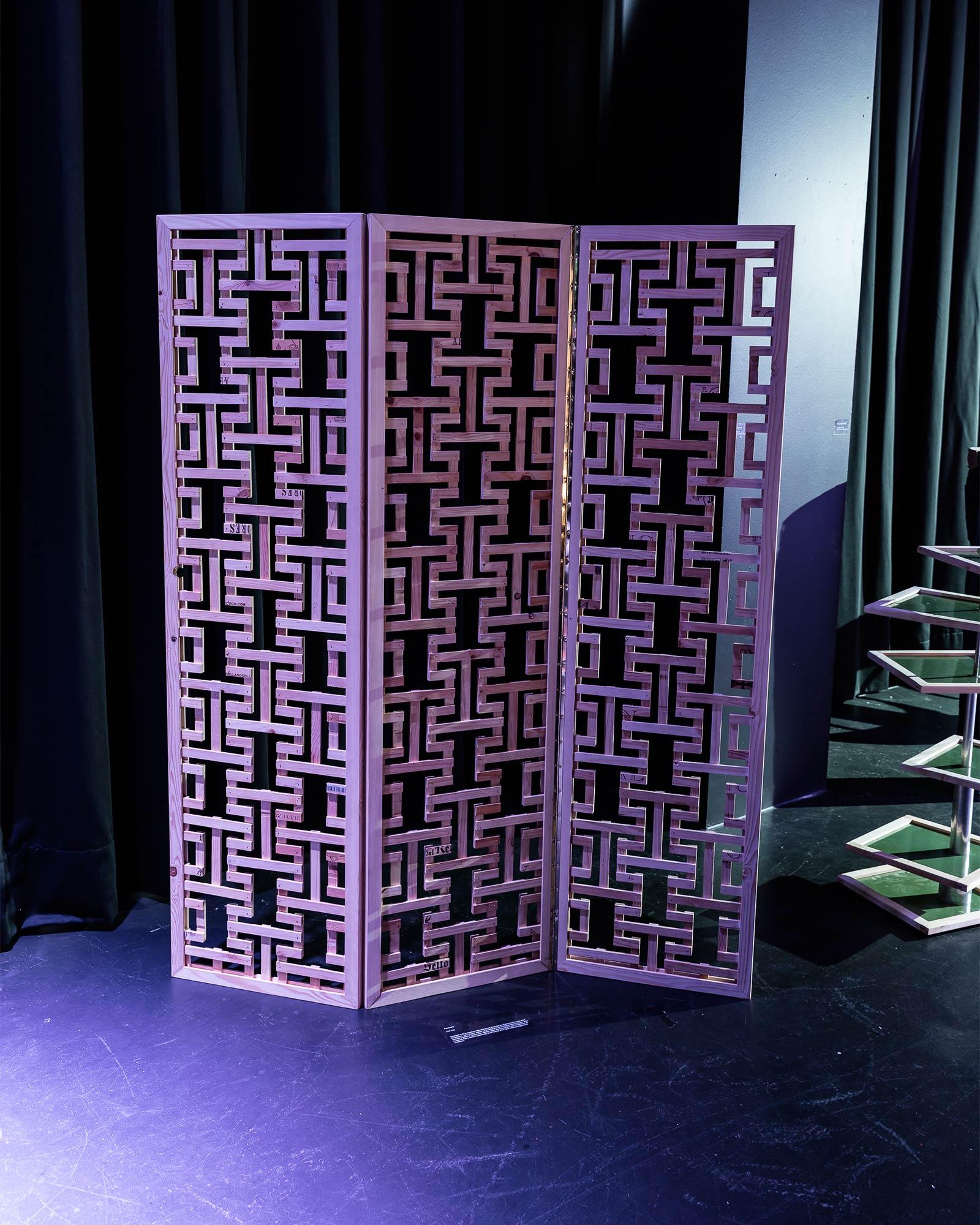 Zoe Hall «Bachelor-Projekt Design. Raumtrennwand aus Weinkistenholz» | LGK Lehrberufe für Gestaltung und Kunst, Diplom 2016