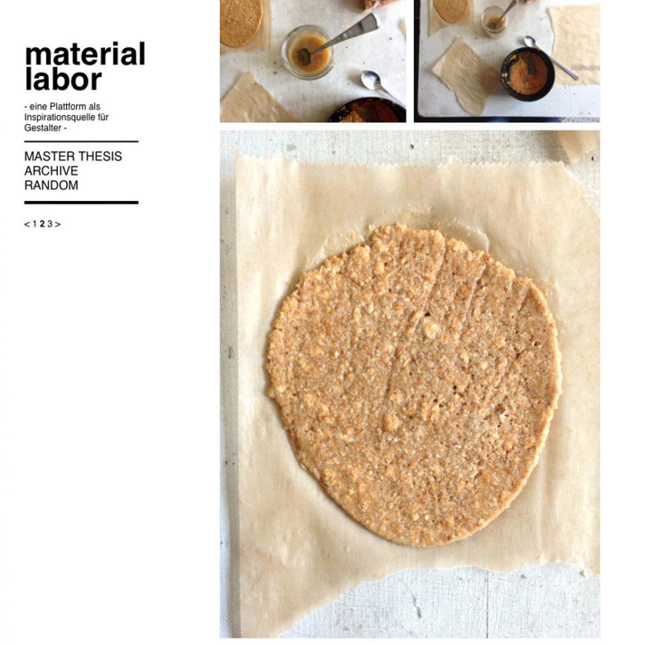 Katharina Berger «Was ist Material?» | Integrative Gestaltung Masterstudio, Diplom 2016