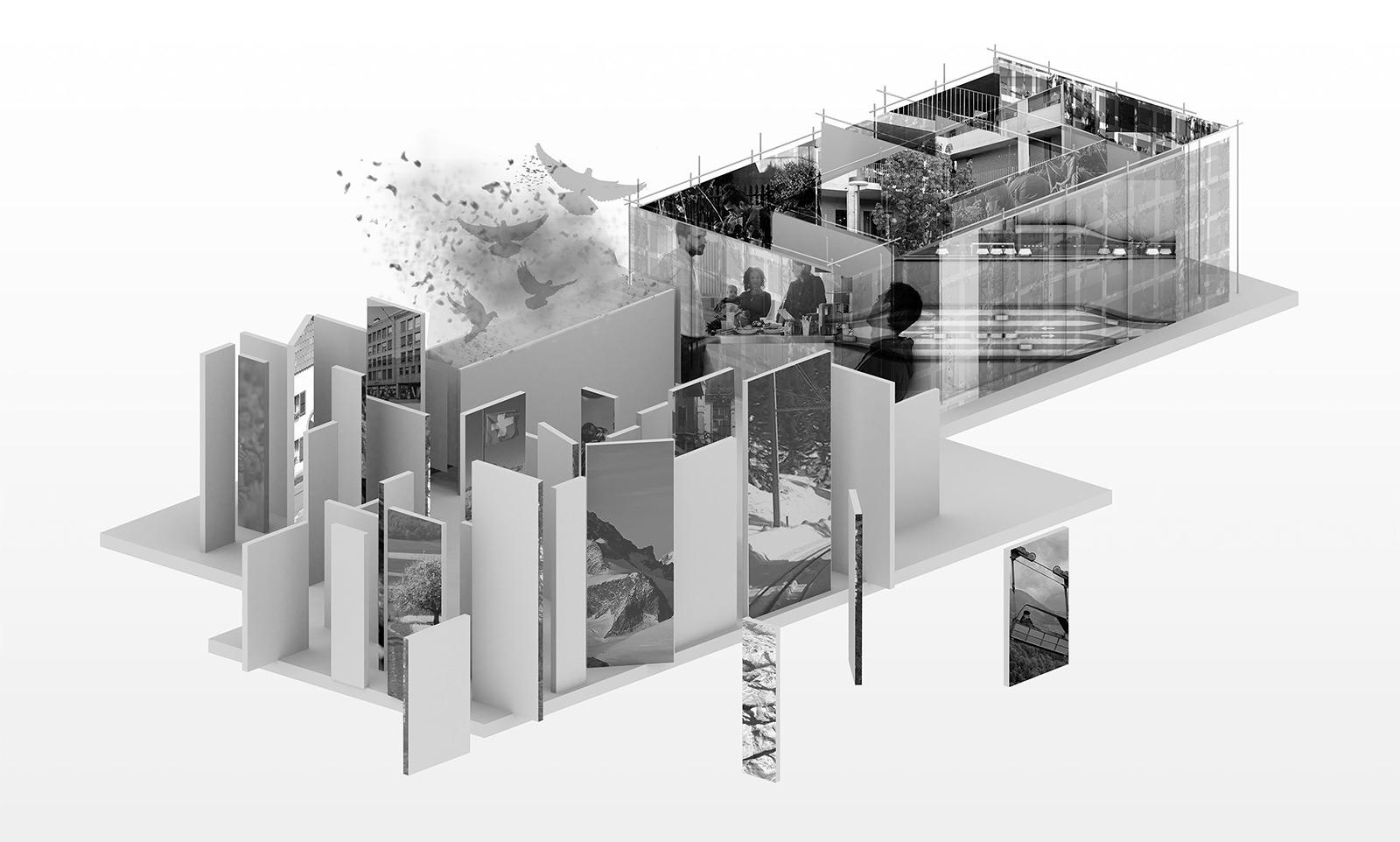 Mirjam Scheerer «dichte | densité | densità | densitad» | Innenarchitektur und Szenografie, Diplom 2016,