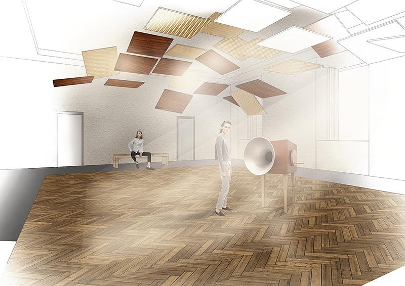Sarah Glauser «Sound Spaces»   Innenarchitektur und Szenografie, Diplom 2016